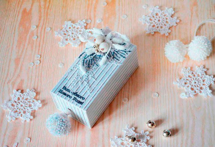 Скрапбукинг коробочка на новый год - фото идеи (2)