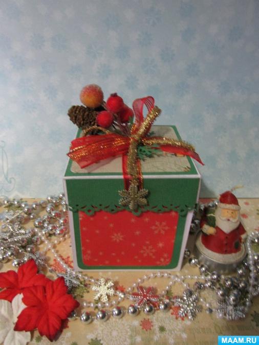 Скрапбукинг коробочка на новый год - фото идеи (23)