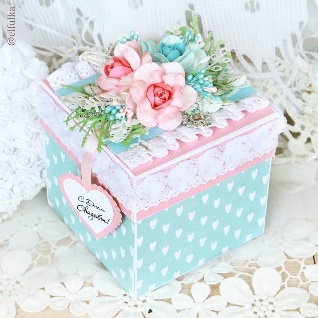 Скрапбукинг коробочка на новый год - фото идеи (24)