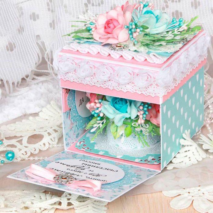 Скрапбукинг коробочка на новый год - фото идеи (25)