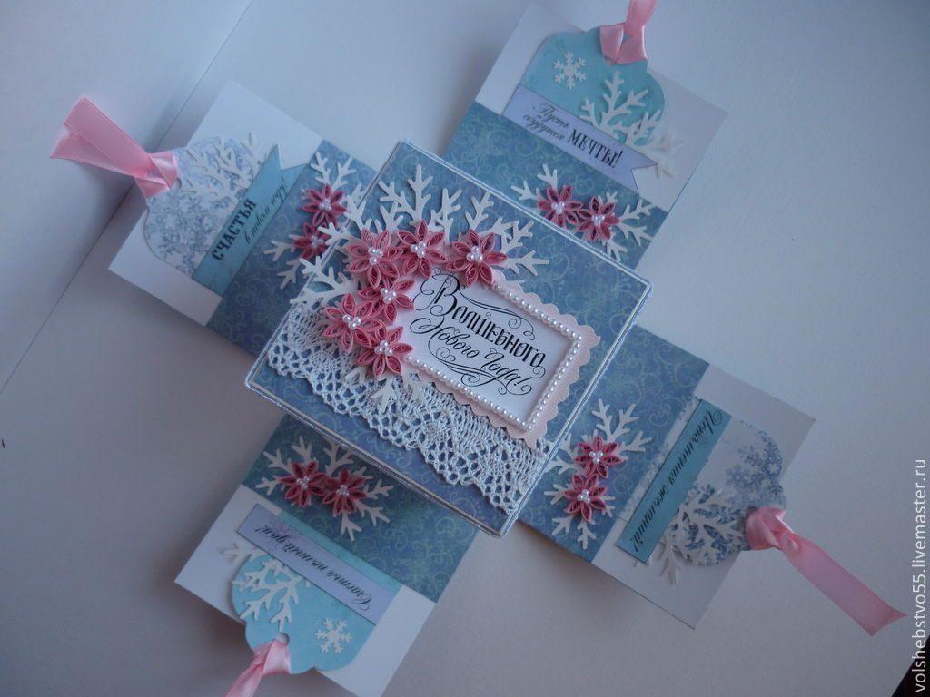 Скрапбукинг коробочка на новый год - фото идеи (27)