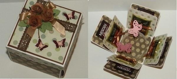 Скрапбукинг коробочка на новый год - фото идеи (5)