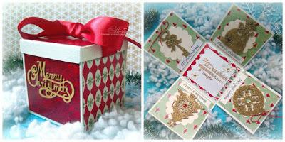 Скрапбукинг коробочка на новый год - фото идеи (6)