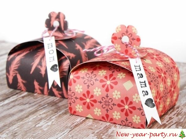 Скрапбукинг коробочка на новый год - фото идеи (7)