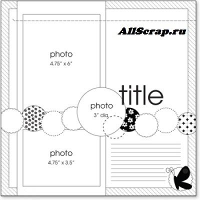 Скрапбукинг скетчи альбом красивые картинки оформления004