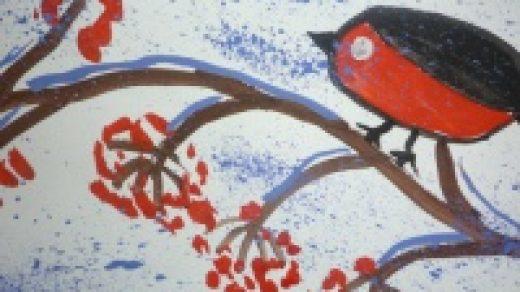 Снегирята картинки для детей (20)