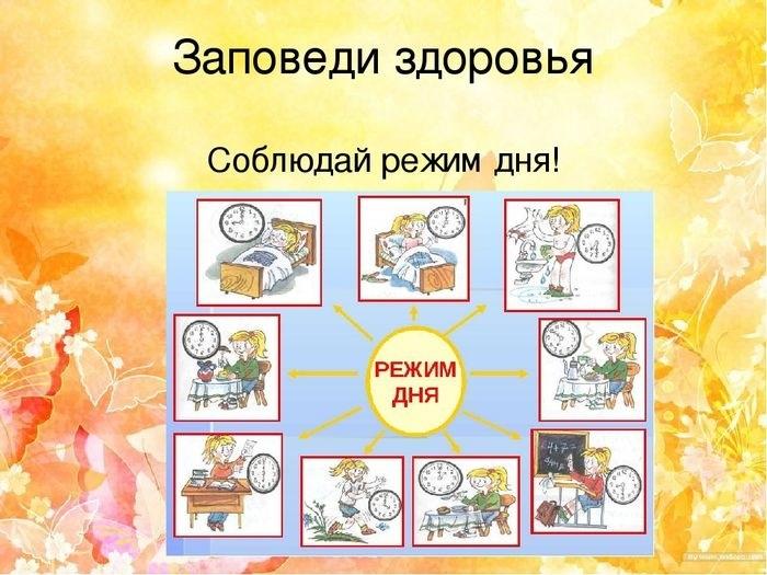 Соблюдай режим дня картинки и рисунки001