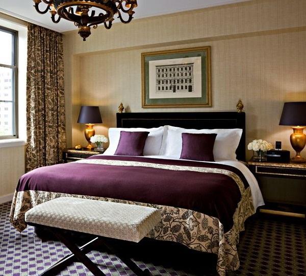 Спальня в сливовом цвете002