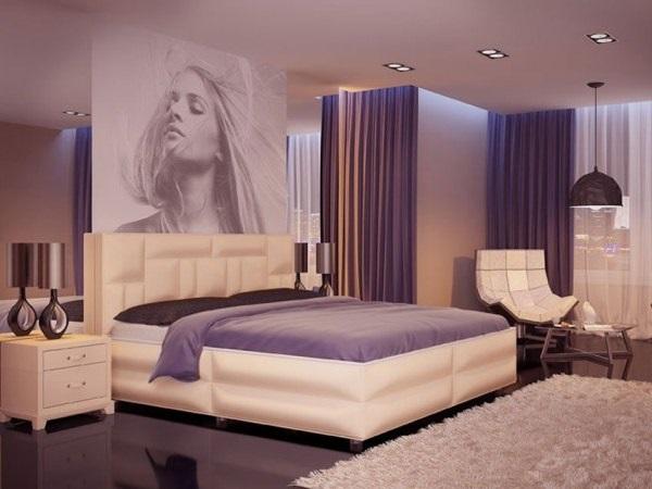 Спальня в сливовом цвете003