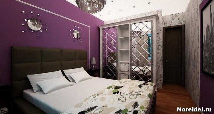 Спальня в сливовом цвете005