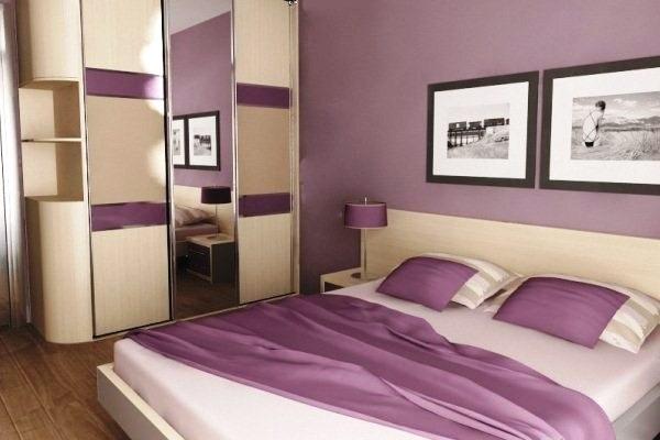 Спальня в сливовом цвете006