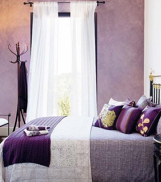 Спальня в сливовом цвете011