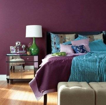Спальня в сливовом цвете014