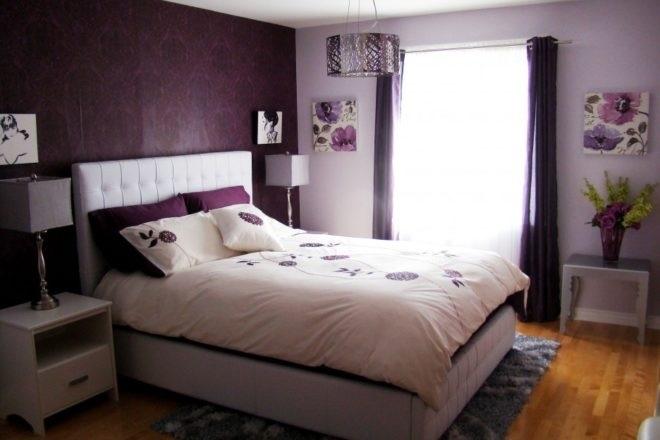 Спальня в сливовом цвете016