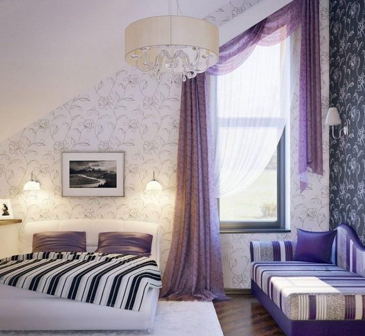 Спальня в сливовом цвете017