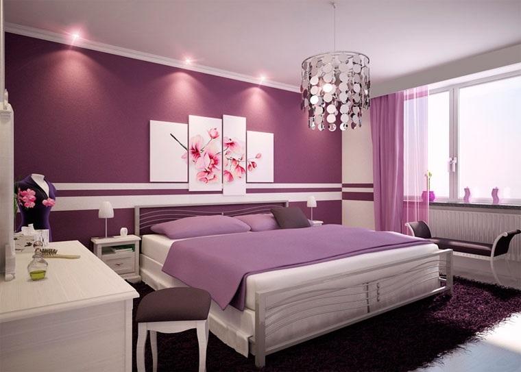 Спальня в сливовом цвете019