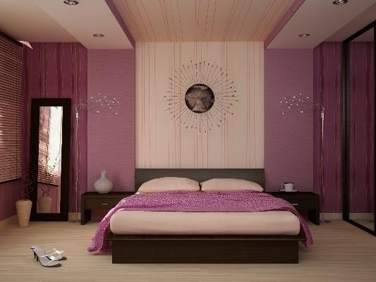 Спальня в сливовом цвете020