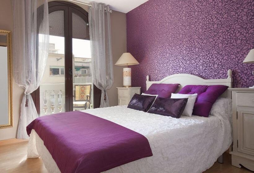 Спальня в сливовом цвете021