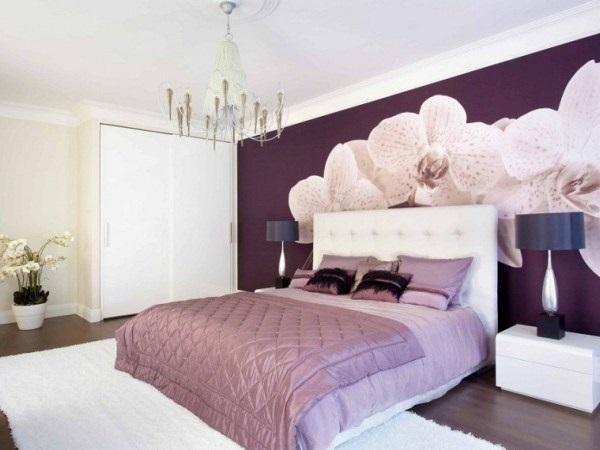 Спальня в сливовом цвете022