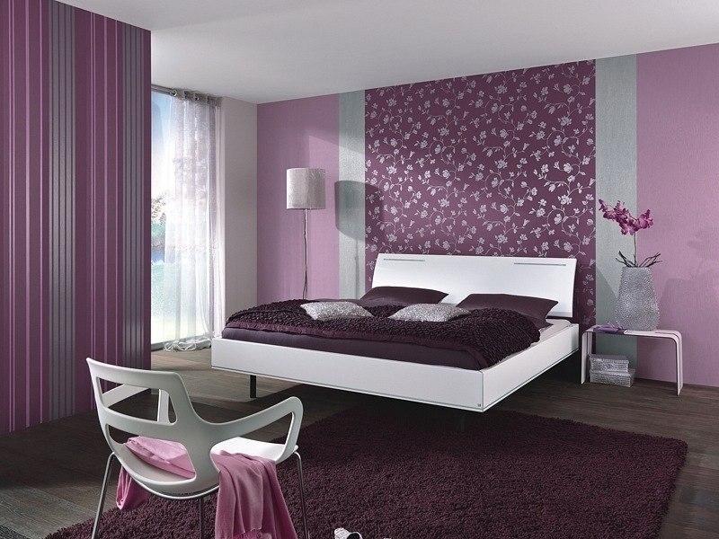Спальня в сливовом цвете024