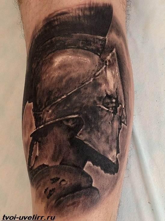 Спартанский шлем тату эскизы (11)