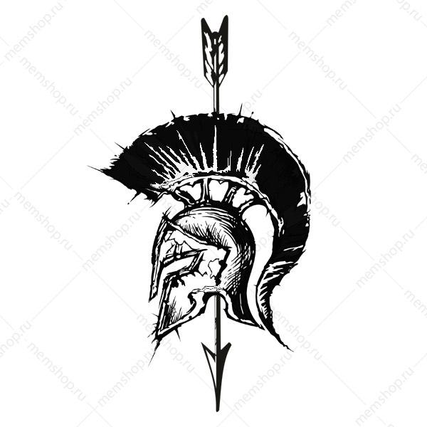 Спартанский шлем тату эскизы (12)