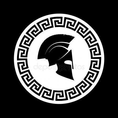 Спартанский шлем тату эскизы (21)