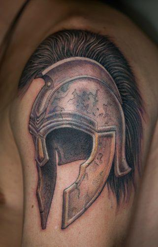Спартанский шлем тату эскизы (23)