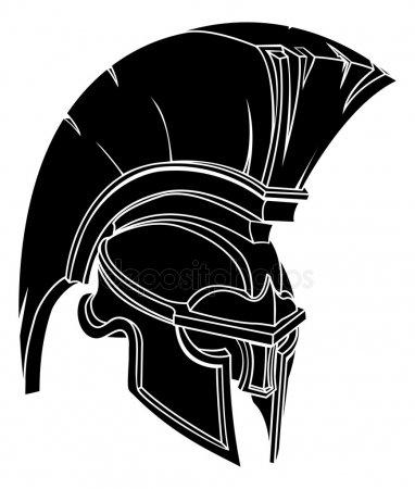 Спартанский шлем тату эскизы (24)