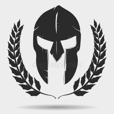 Спартанский шлем тату эскизы (25)