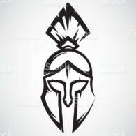 Спартанский шлем тату эскизы (29)