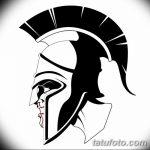 Спартанский шлем тату эскизы (30)
