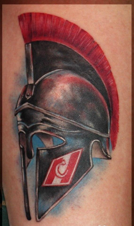 Спартанский шлем тату эскизы (34)