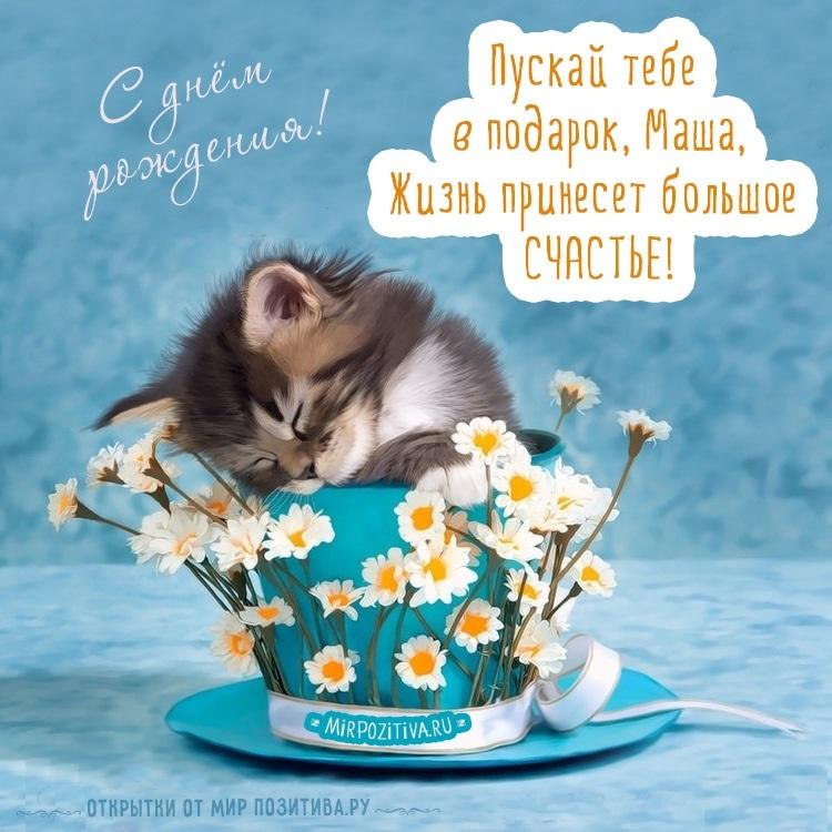 С днем рождения Маша открытки прикольные008