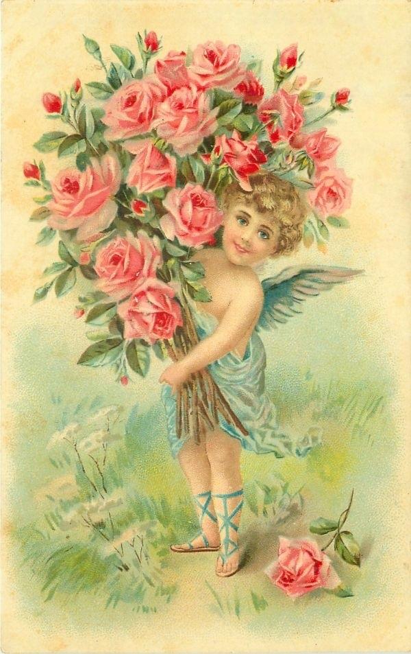 С днем рождения антикварные открытки003
