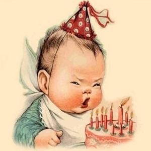 С днем рождения антикварные открытки009