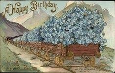 С днем рождения антикварные открытки011
