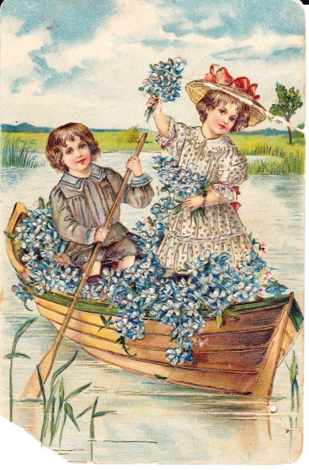 С днем рождения антикварные открытки014