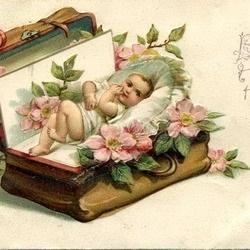 С днем рождения антикварные открытки015