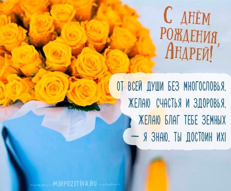 С днем рождения поздравления открытки Андрей007