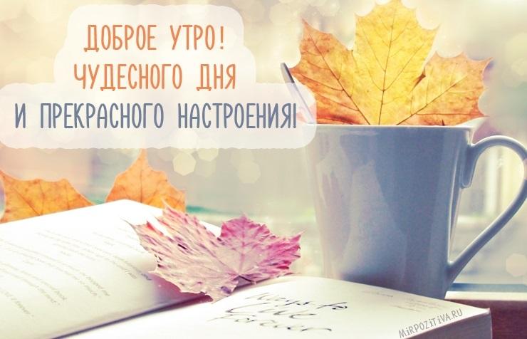 С добрым теплым утром октября картинки и открытки008