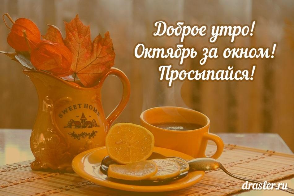 С добрым теплым утром октября картинки и открытки016