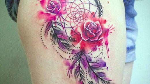 Татуировка ловец снов Акварель (4)