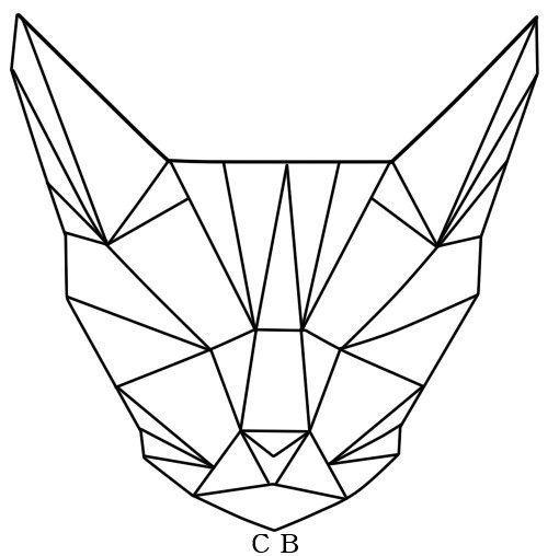 Тату эскиз кошка геометрия (18)