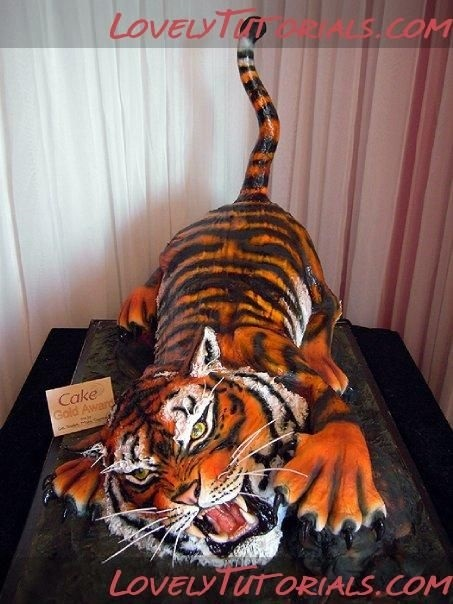 Тигр торт красивые фото002