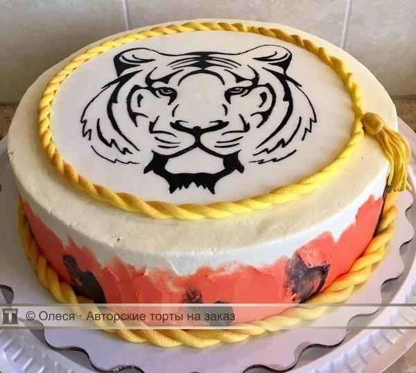 Тигр торт красивые фото016