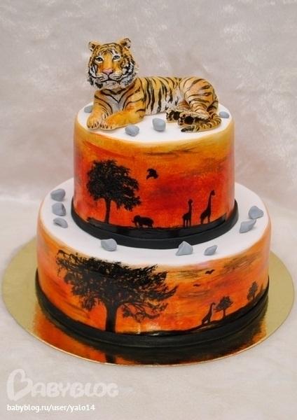 Тигр торт красивые фото017