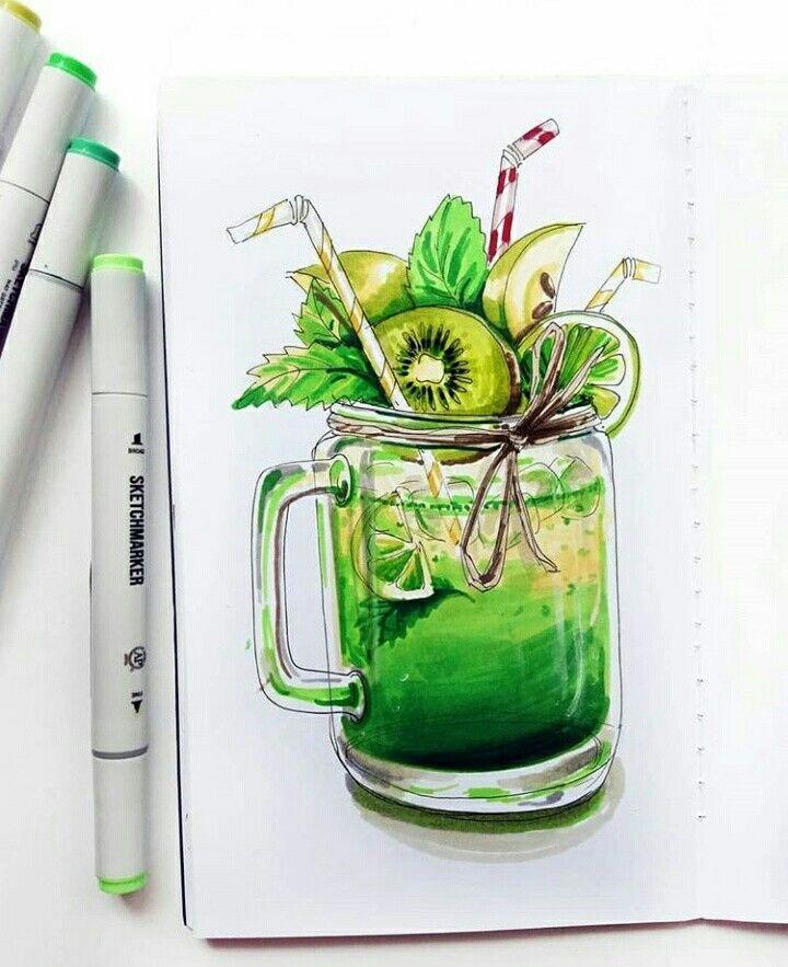 Топовые нарисованные картинки еда и напитки (1)