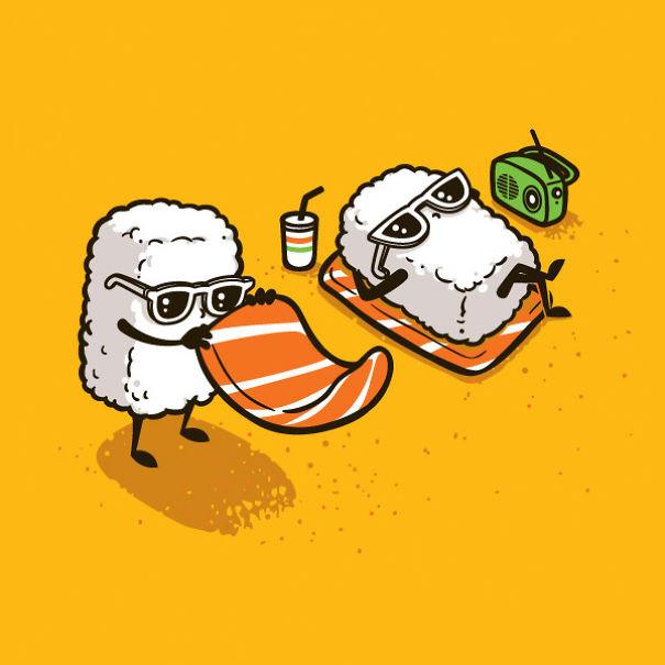 Топовые нарисованные картинки еда и напитки (2)