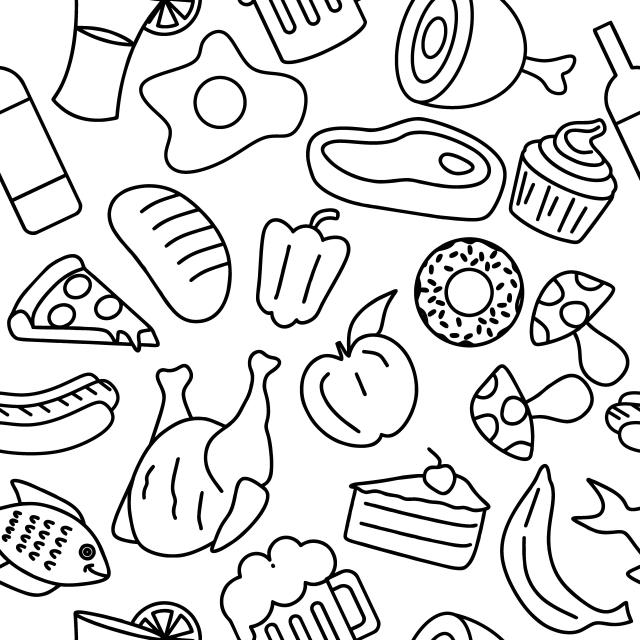 Топовые нарисованные картинки еда и напитки (33)